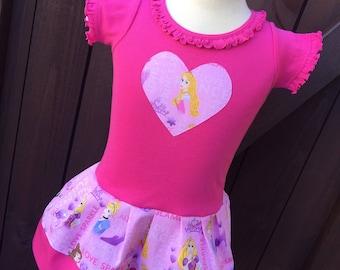 Custom Girls Dress. Disney Princess Inspired. Short Sleeve