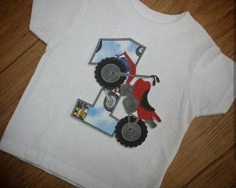 Dirt bike birthday shirt. Birthday boy.