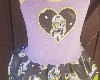 Birthday dress. Girls dress. Buzz dress. Space Hero dress. Buzz lightyear dress.