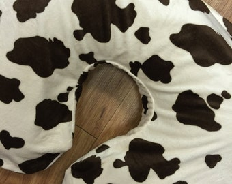 Nursing Pillow Cover. Fits Boppy Pillow. Cow. Any Color Available