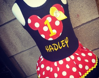 Minnie Mouse Dress. Personalized.