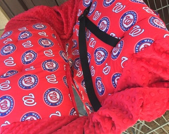 Shopping Cart Cover. Made with Washington Nationals Fabric