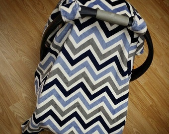 Chevron, Car seat canopy tent. Several colors available.