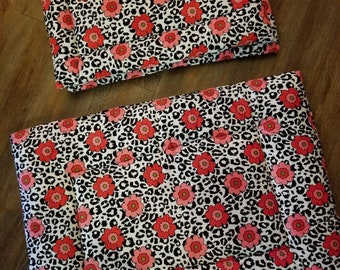 Minky Pet Bed. Minky Dog Bed. Pet Crate Pad. Minky Cat Bed. Floral Cheetah