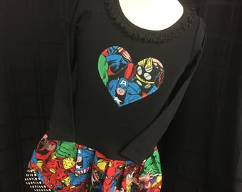 Avengers, Super Hero, DRESS. Long Sleeve