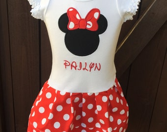 Minnie Mouse Dress. Short Sleeve. Personalized.