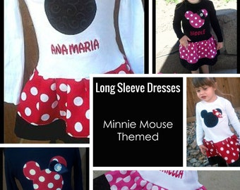 Minnie Mouse Dress. LONG SLEEVE