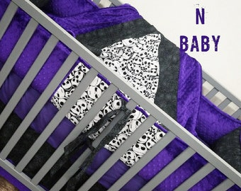 Jack Skellington Crib Set. You design. Several fabrics to choose from.