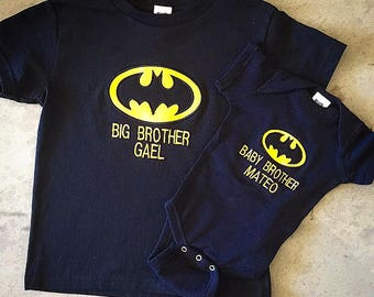 Batman, Big Brother, Little Brother, Sibling Set.