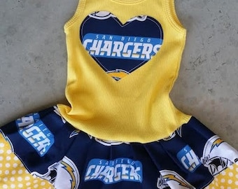San Diego Chargers, Dress. All NFL and College Teams Available.