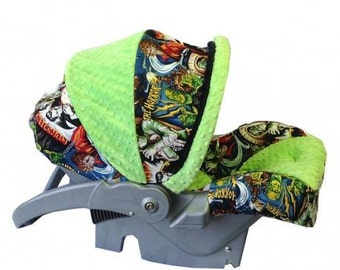 Monsters, Villians, Infant Car Seat Replacement Cover. You choose colors.