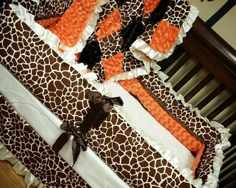 Giraffe Crib Set. You design. Several Colors Available.