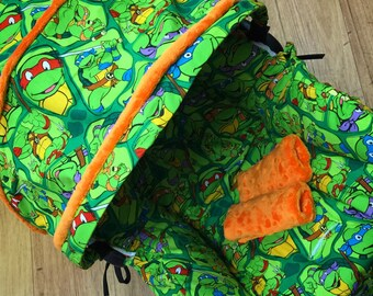 Infant Car Seat Replacement Cover. TMNT fabric. You choose colors.