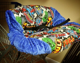Superhero, Avengers, Shopping Cart Cover. Several colors to choose from