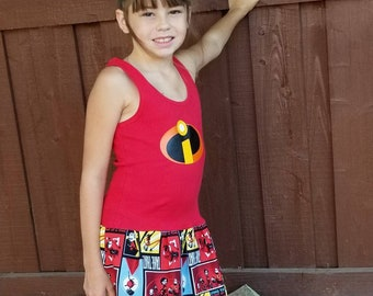 Custom Girls Dress. Inspired by Incredibles