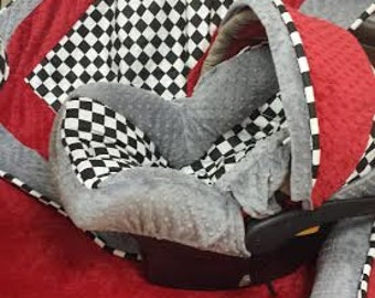 Checkered Flag, Car Seat Cover