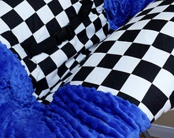 Checkered Flag, Checkered, Shopping Cart Cover