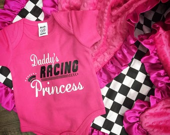 Daddy's Racing Princess Onesie