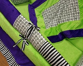 Jack Skellington Crib Set. You design. Several fabrics to choose from.
