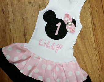 BIRTHDAY, Minnie Mouse Dress. DRESS ONLY.