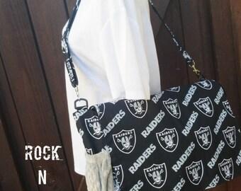 Diaper bag. Back Back. Football Diaper Bag. Raiders Diaper Bag