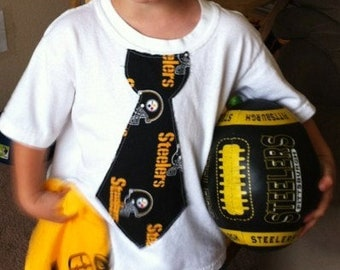 Sports Shirt. Football shirt. Football tie shirt. Pittsburgh Steelers Shirt. Football fan.Steelers Tie. baby Shower Gift