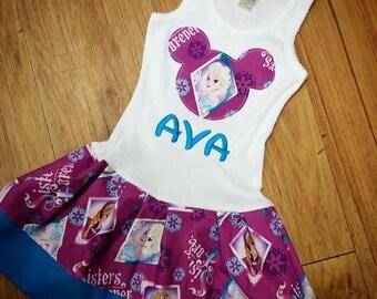 Frozen Dress, Anna Dress, Elsa Dress.