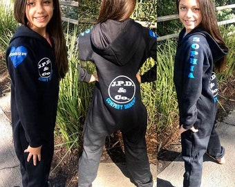 Custom onesie. Hooded Onesie. Personalized Onesie. Footless Pajamas. Personalized pajamas. Dance wear. Gymnastics. Dance. Coverups