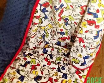 Dinosaur Throw blanket. Adult minky blanket. Minky blanket. Dinosaur baby blanket. Dinosaur blanket.