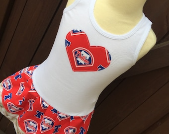 Girls Dress. Created with Phillies fabric