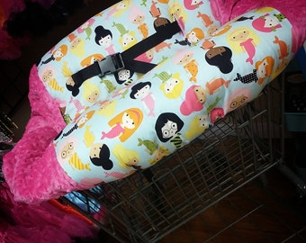 Mermaid, Shopping Cart Cover. Several colors to choose from