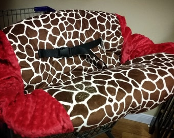 Giraffe, Shopping Cart Cover. Several colors to choose from