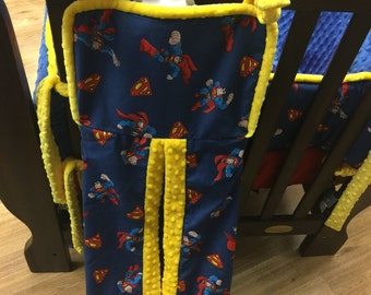 Diaper Stacker. You choose fabrics. SUPERMAN