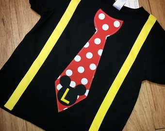 Mickey Mouse, Tie Shirt with suspenders.