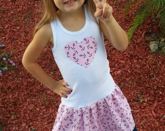 Anchor DressCruise Dress. Sailor dress. Disney Cruise Dress. Custom kids clothing. Nautical Dress