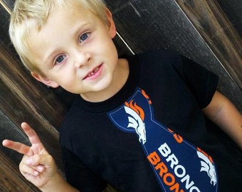 Sports Shirt. Football shirt. Football tie shirt. Denver Broncos Shirt. Football fan. Broncos Tie. baby Shower Gift
