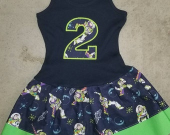 Buzz Lightyear, Inspired, Birthday Dress