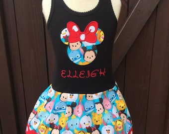 Girls Dress. Tsum Tsum inspired