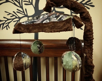 Camo, True Timber, Crib Mobile. Custom your own. You choose fabric.