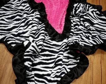 Zebra Minky Blanket