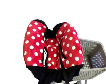 Red Polka Dot, Shopping Cart Cover