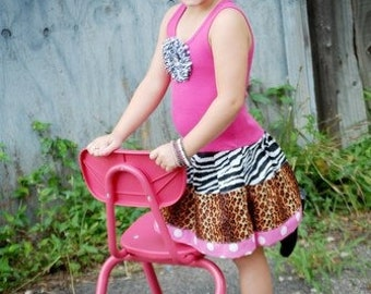 Zebra Dress. Cheetah dress. Safari Dress. Custom kids clothing. Jungle Dress