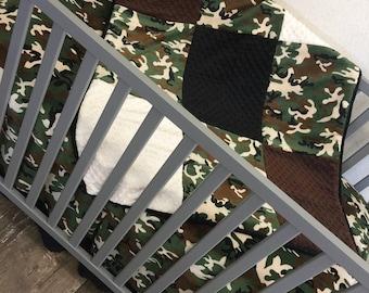 Camo, Camoflauge, Army, Military, Crib Set.