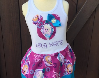Custom Girls Dress. Frozen Inspired.