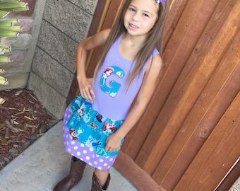 Girls dress. Little Mermaid Inspired