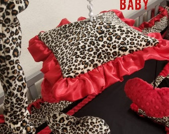 Baby crib mobile. Custom crib mobile. Cheetah crib mobile. Leopard crib mobile. Nursery decor