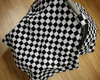Checkered Flag, car seat canopy tent