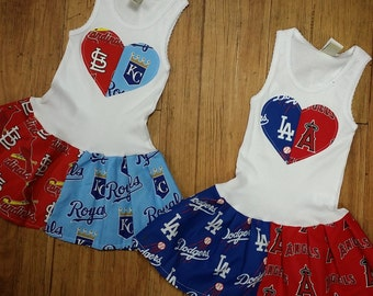 House Divided Dress. All BASEBALL Teams Available.