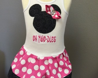 Oh Two Dles Minnie Mouse Dress. Several color options available.