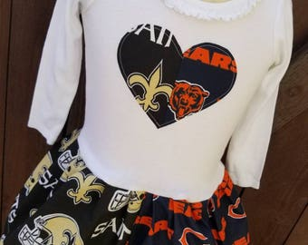 House Divided Dress. All NFL and College Teams Available. LONG SLEEVE